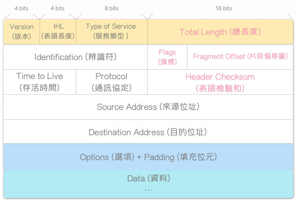 IP Datagram 格式